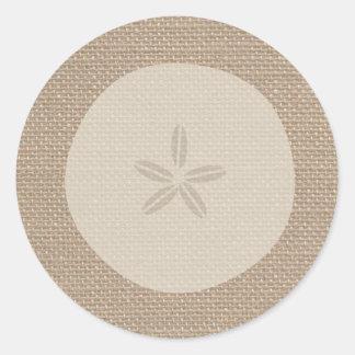 De jute Geïnspireerde Sticker van de Dollar van