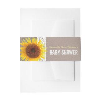 De Jute van de zonnebloem & haakt het Baby shower Uitnodigingen Wikkel
