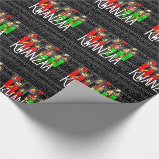 De Kaarsen van Lit Kinara van Kwanzaa met Cadeaupapier