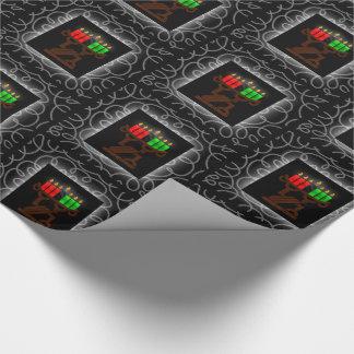 De Kaarsen van Lit Kinara van Kwanzaa met Zwarte Inpakpapier