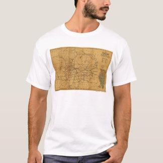 De Kaart Chicago & Omringend Midwesten c. 1850 van T Shirt