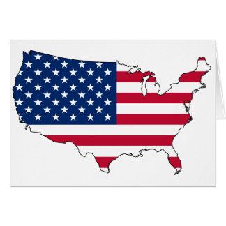 De kaart de V.S. van Verenigde Staten
