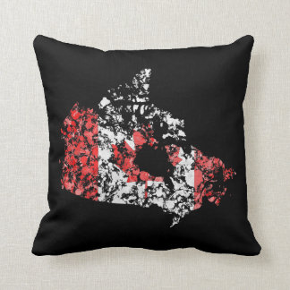 De kaart & de vlag van Canada grunge ploeteren van Sierkussen