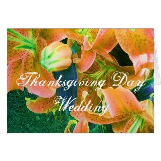 """De Kaart """"deel van Dit Huwelijk van Thanksgiving"""