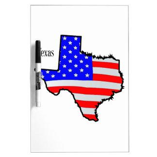 De Kaart en de Vlag van Texas Whiteboard