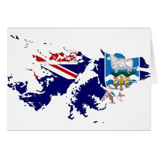 De Kaart FK van de Vlag van Falkland Eilanden