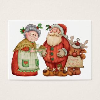De Kaart/het Label van de Bijlage van de Kerstman Visitekaartjes