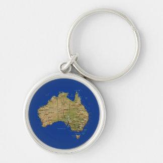 De Kaart Keychain van Australië Sleutelhanger