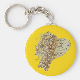 De Kaart Keychain van Ecuador Sleutelhanger