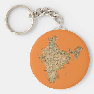De Kaart Keychain van India Sleutelhanger