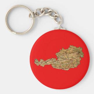 De Kaart Keychain van Oostenrijk Sleutelhanger