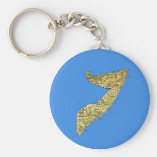 De Kaart Keychain van Somalië Sleutelhanger