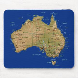 De Kaart Mousepad van Australië Muismat