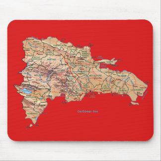 De Kaart Mousepad van de Dominicaanse Republiek Muismat