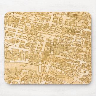 De Kaart Mousepad van de Stad van Glasgow Muismat