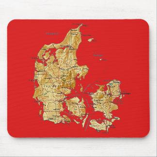De Kaart Mousepad van Denemarken Muismat