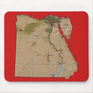 De Kaart Mousepad van Egypte Muismatten