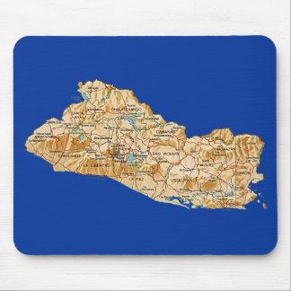 De Kaart Mousepad van El Salvador Muismat
