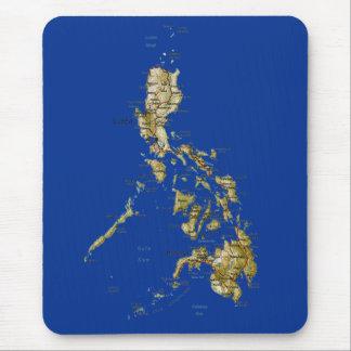 De Kaart Mousepad van Filippijnen Muismatten