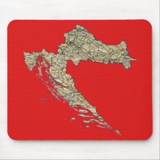De Kaart Mousepad van Kroatië Muismatten