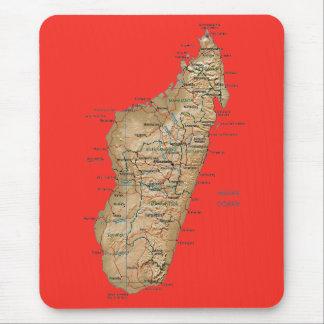 De Kaart Mousepad van Madagascar Muismat