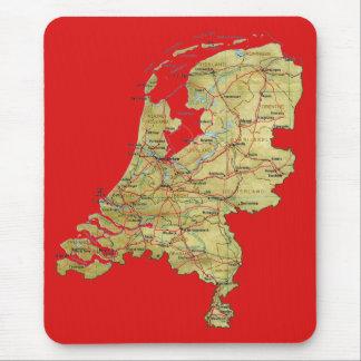 De Kaart Mousepad van Nederland Muismat