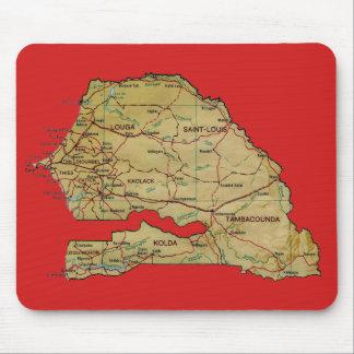 De Kaart Mousepad van Senegal Muismatten