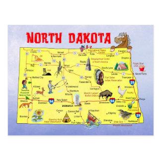 De Kaart Staat van de Noord- van Dakota Briefkaart