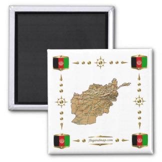 De Kaart van Afghanistan + De Magneet van vlaggen