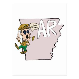 De Kaart van Arkansas AR & de Cartoon van Douglas