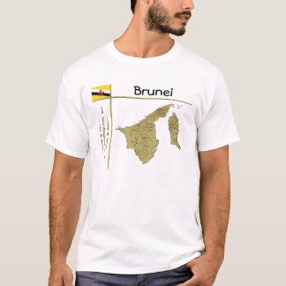 De Kaart van Brunei + Vlag + De T-shirt van de