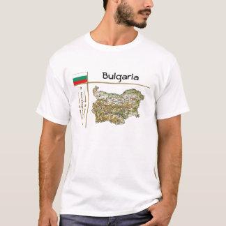 De Kaart van Bulgarije + Vlag + De T-shirt van de