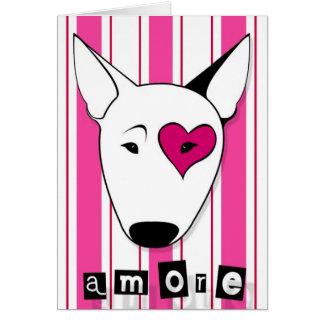 De Kaart van Bull terrier van Amore