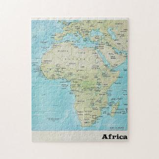 De Kaart van de Aardrijkskunde van Afrika: Een Puzzel
