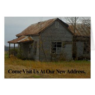 De Kaart van de adreswijziging: Kom bezoeken ons