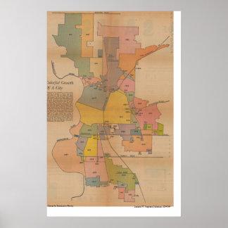 De Kaart van de Annexatie van Sacramento, 1966 Poster