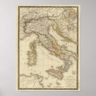 De Kaart van de Atlas van Rome Poster