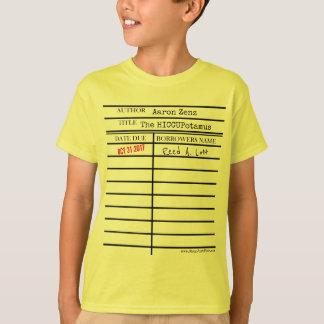 """De Kaart van de Bibliotheek """"HICCUPatamus"""" - pas T Shirt"""