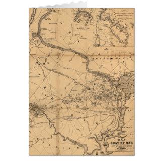 De Kaart van de Burgeroorlog van Slagen Juli 18,