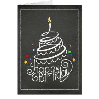 De Kaart van de Cake van de Verjaardag van het