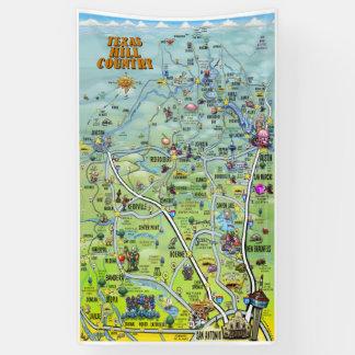 De Kaart van de Cartoon van het Land van de Heuvel Spandoek