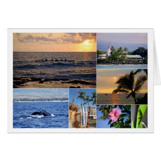 De Kaart van de Collage van Kona Hawaï van Kailua