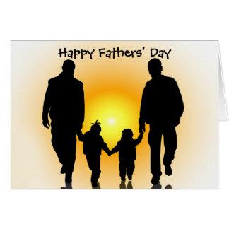 De Kaart van de Dag van vrolijke Vaders voor