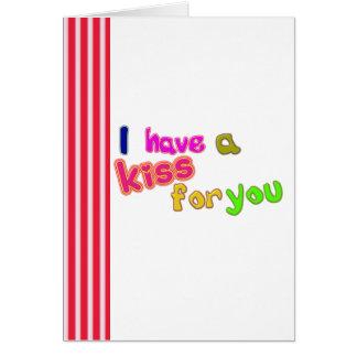 De Kaart van de day_kus van grappig Valentijn