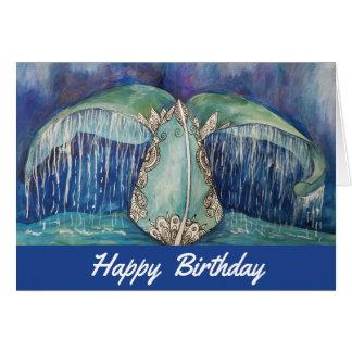 De kaart van de de staartverjaardag van de walvis