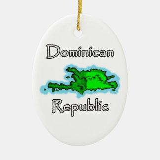 De Kaart van de Dominicaanse Republiek Keramisch Ovaal Ornament