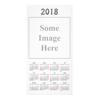 de Kaart van de Foto van de Kalender van de