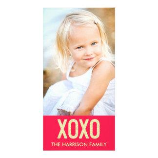 De Kaart van de Foto van de Valentijnsdag XOXO Persoonlijke Fotokaart