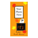 De Kaart van de Foto van Eerste Halloween van de b Persoonlijke Fotokaarten