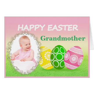 De Kaart van de Foto van Pasen voor Grootouder